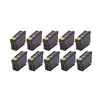 RudyTwos 10x Replacement for Epson 34XL(GolfBall) Ink Unit Black Compatible with WorkForce Pro WF-3720DW, WF-3720DWF, WF-3725DW, WF-3725DWF