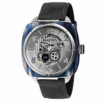 Briston 201042.SA.BL.2.B Streamliner Skeleton Blue Acetate Wristwatch