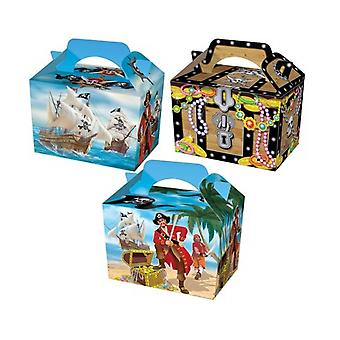 Single Pirate Card Party Food or Treat Box