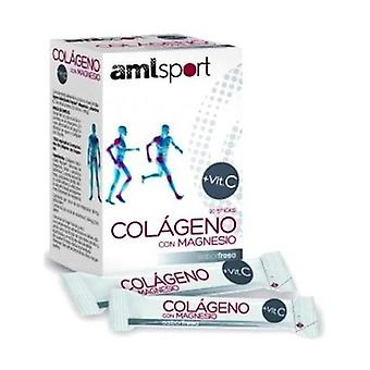 AmlSport Collagen with Magnesium 20 units (Strawberry)