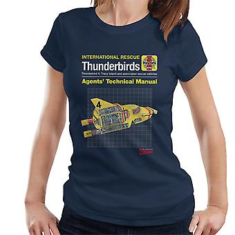 Thunderbirds Ombud Teknisk Manual Thunderbird 4 Kvinnor & apos; s T-shirt
