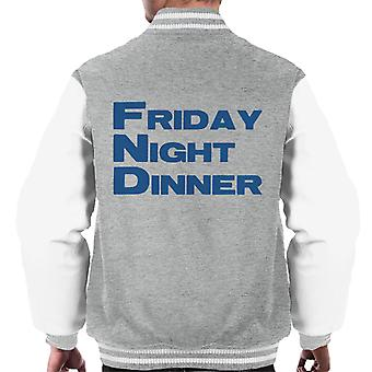 Friday Night Dinner Logo Men's Varsity Jacket