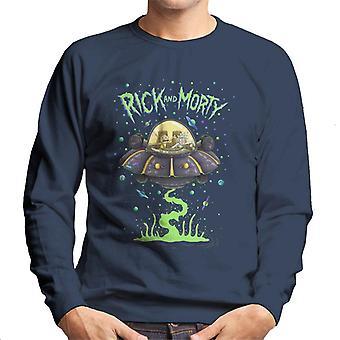 Rick og Morty i rummet Cruiser mænd ' s sweatshirt