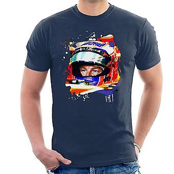 Motorsport Images Jenson Button McLaren MCL32 Monaco Helmet Shot Men's T-Shirt