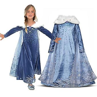 Girls 2pc Frozen 2 Princess Queen Anna Party Fancy Dress Cosplay Costume