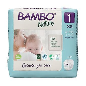 Diapers T1 Newborn (2-4 kg) ECO 22 units