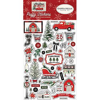 Carta Bella Christmas Market Puffy Stickers
