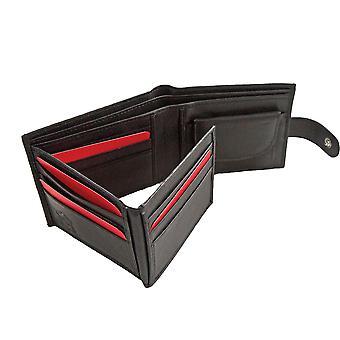 Primehide BASIC - Mens Leather Wallet - RFID Blocking - Preto / Marrom - 27