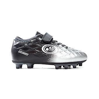 Optimum Ignisio Easy Fasten Kids FG Firm Ground Football Boot Black/Silver