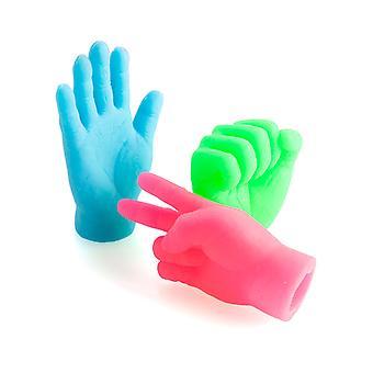 الأيدي الملونة الإصبع (مجموعة من 3)