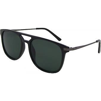 Gafas de sol Unisex Wayfarer Kat. 3 negro/verde (8310-B)