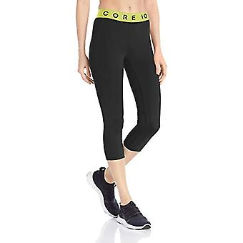 Brand - Core 10 Women's Standard Lightweight Compression Capri, Black/...