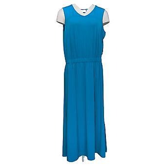Joan Rivers Petite Robe Sans manches V-Neck Jersey Maxi Bleu A304706