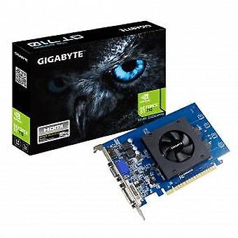 Gigabyte GV-N710D5-1GL [GeForce GT 710 [PCIe2.0, 1 GB, GDDR5, 64-bits, 4096 x 2160 pixels, 300W]