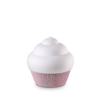 ideell lux cupcake - 1 lys bord lys rose, e27