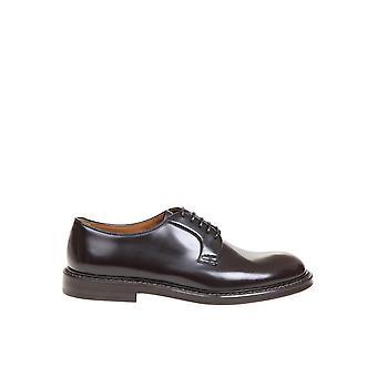 Doucal's Du1385sienuf007tm02 Men's Brown Leather Lace-up Shoes