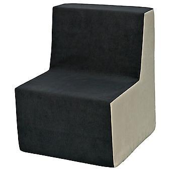 Kinderstoel meubel schuim grijs & beige