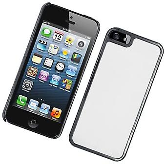 Eagle Cell Luxury Metal Case for iPhone 5/5S - Black/Silver