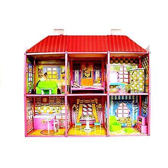 Puppenhaus - Große Villa mit Möbeln + FREE POP