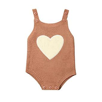 Newborn Baby Clothes, Long Sleeve Star Heart Love Sweater Rompers- Infant Kids