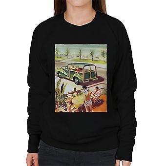 Morris Traveller Summer British Motor Heritage Women's Sweatshirt