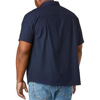 Essentials Men's big & Tall Short-Sleeve Pocket Oxford Shirt fit von DXL, Navy, 2XL