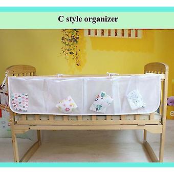 Baby Bed Hanging Storage Bag, Crib Organizer, Diaper Nappy Pocket For Bedding