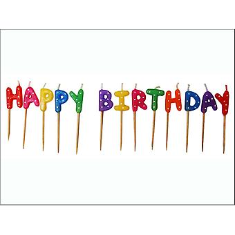 Anniversary House Happy Birthday Pick Candles AHC161