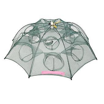 4-20 Löcher automatische Angelnetz - Nylon faltbare Fangen Fischfalle für Fische,