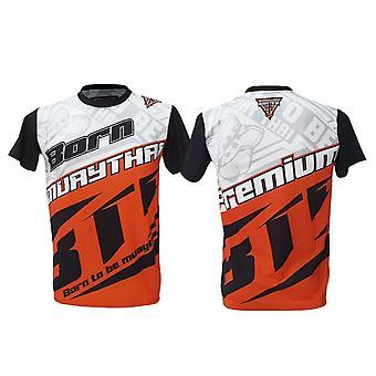 T-Shirt Muay Thai Top Thai Boxen MMA Sport tragen Unisex - (rot)