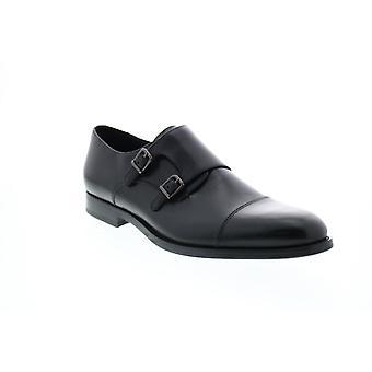 Geox U Hampstead B Herren schwarz Leder Oxfords & Lace Ups Mönch Strap Schuhe