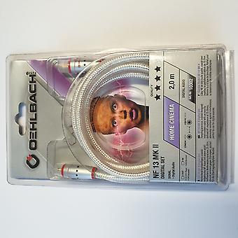 Oehlbach NF 13 MK II Digital Audio RCA Cable 1 piece silver