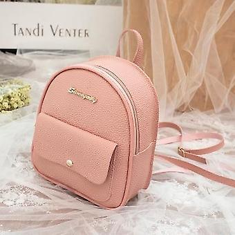 Mini Backpack, Women Pu Leather Shoulder Bag For Teenage, Kids, Multi-function,