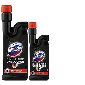 2 x 500ml Domestos sink and pipe unblocker