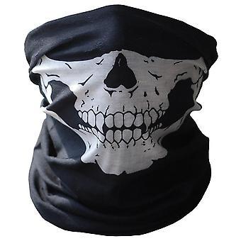 Uomini Sciarpa Halloween Ride Bandana Donna Testa Sciarpa Sci Teschio Mezza Maschera viso