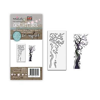 Polkadoodles Creepy Tree Stencil