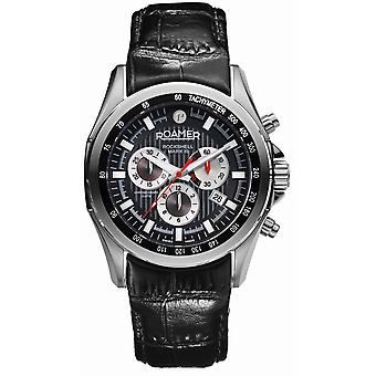 Roamer 220837 41 55 02 Rockshell Mark III Black Strap Chronograph Wristwatch