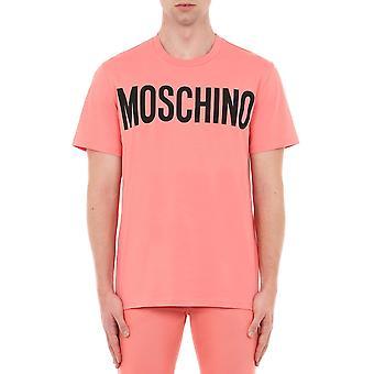 Moschino A070520401245 Mænd's Pink Cotton T-shirt