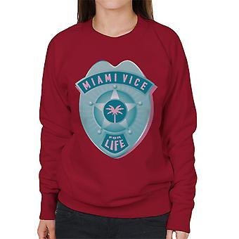 Miami Vice For Life Police Badge Women's Sweatshirt