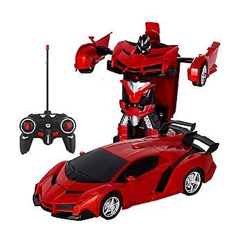 Led Light Rc Car Transformation Robot Car 1:18 Deformation Rc Car Toy