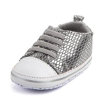 Unisex Baby Soft Bottom Sole Bling Mesh Zapatos antideslizantes