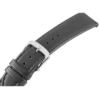 Bracelet montre Men 20mm brun, Rivets