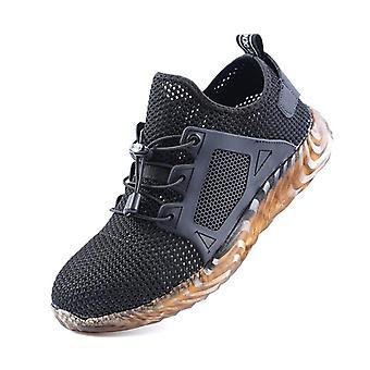 Männer/Frauen Steel Toe Air Safety Stiefel Punktsichere Arbeitssneaker