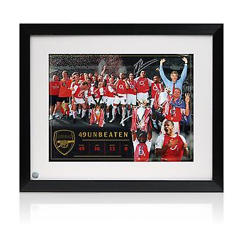 Dennis Bergkamp Signed Arsenal Photo: Invincibles. Framed