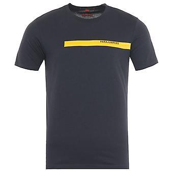 Parajumpers Tape Print T-Shirt - Phantom Grey
