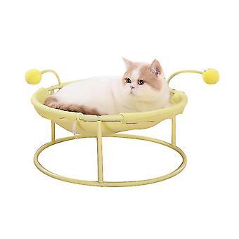 Cat Hamac Bed respirabil pentru pisoi Kitties Pups Animale de companie mici, detașabil, ușor de curățat