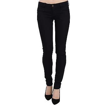 Blaue Skinny Leg Denim Hose Slim Fit Jeans