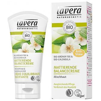 Lavera Crème équilibrante matifiante - Aux peaux mélangées de thé vert 50 ml