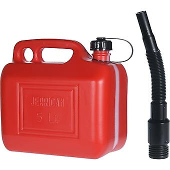 Jerry Plastic 5 Litre Red Can With Funnel