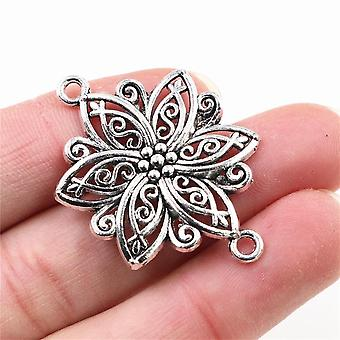 Antique Bronze Silver Plated Flower Style Handmade